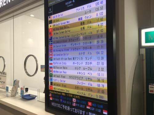 関西国際空港の外貨両替所