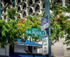 Kalakaua Avenue road sign.