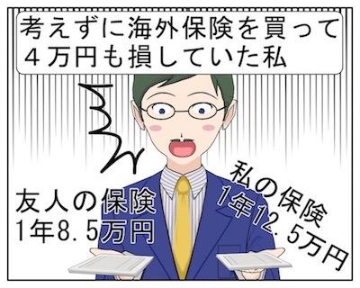 考えずに海外旅行保険保険を書い4万円損していた過去の私