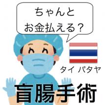海外旅行保険体験談タイ パタヤ 盲腸手術